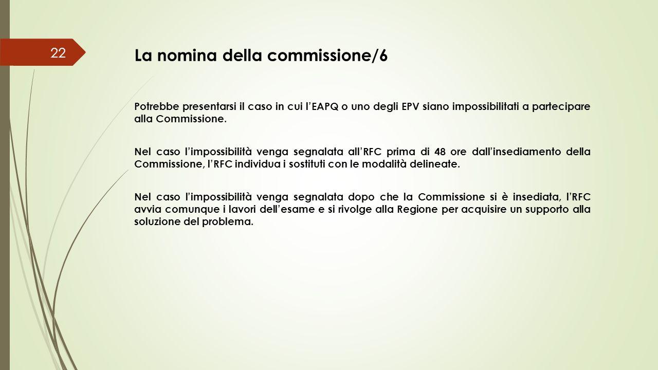 La nomina della commissione/6