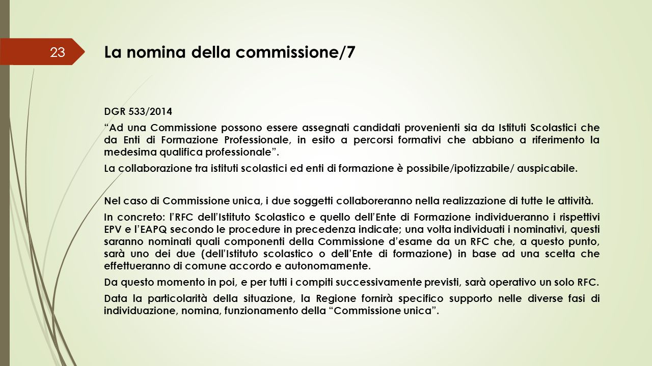La nomina della commissione/7