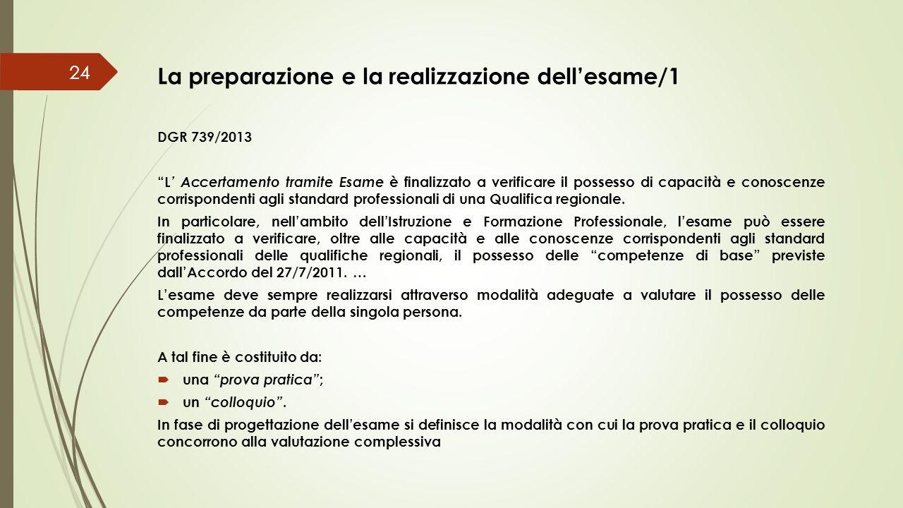 La preparazione e la realizzazione dell'esame/1