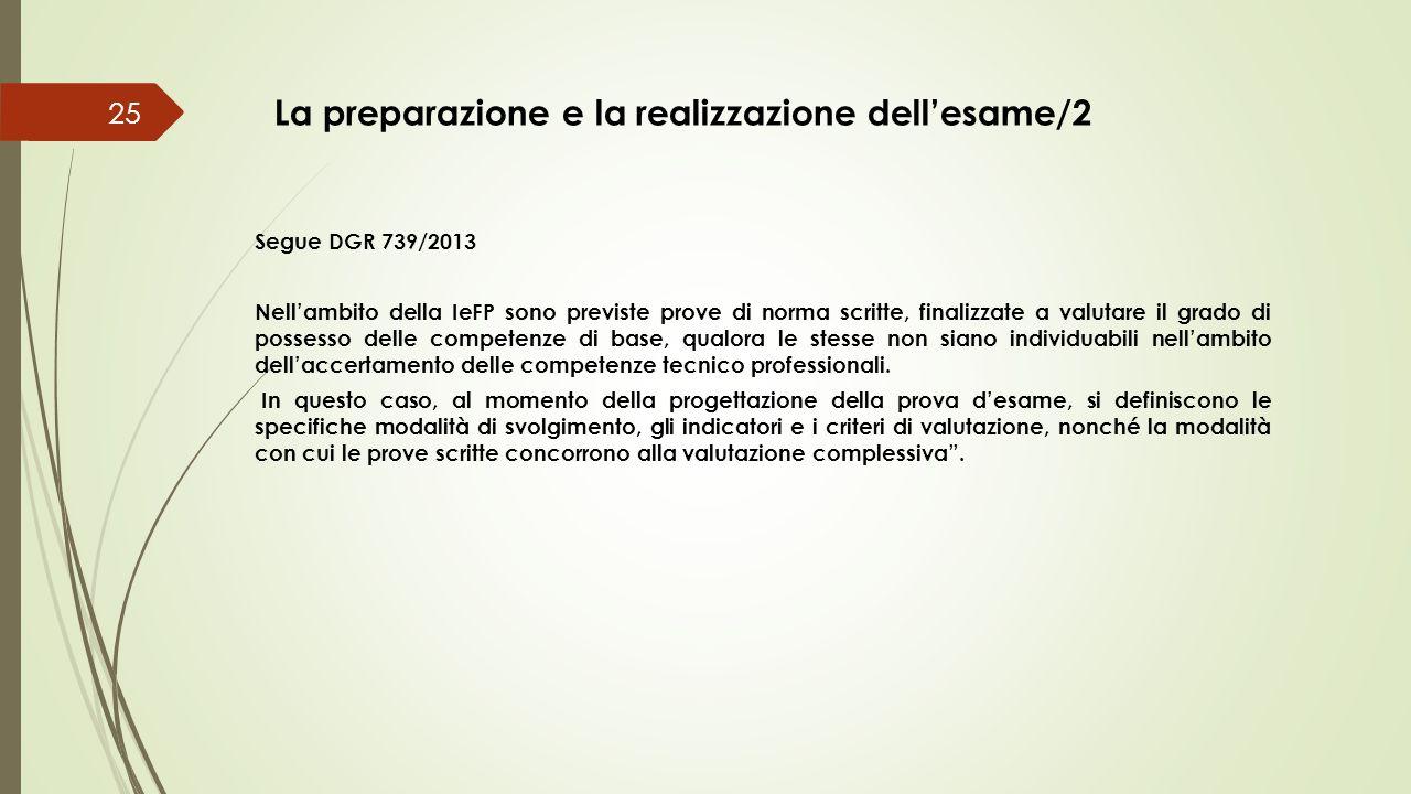La preparazione e la realizzazione dell'esame/2