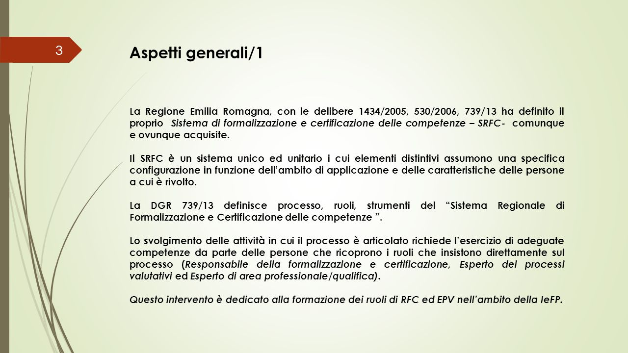 Aspetti generali/1