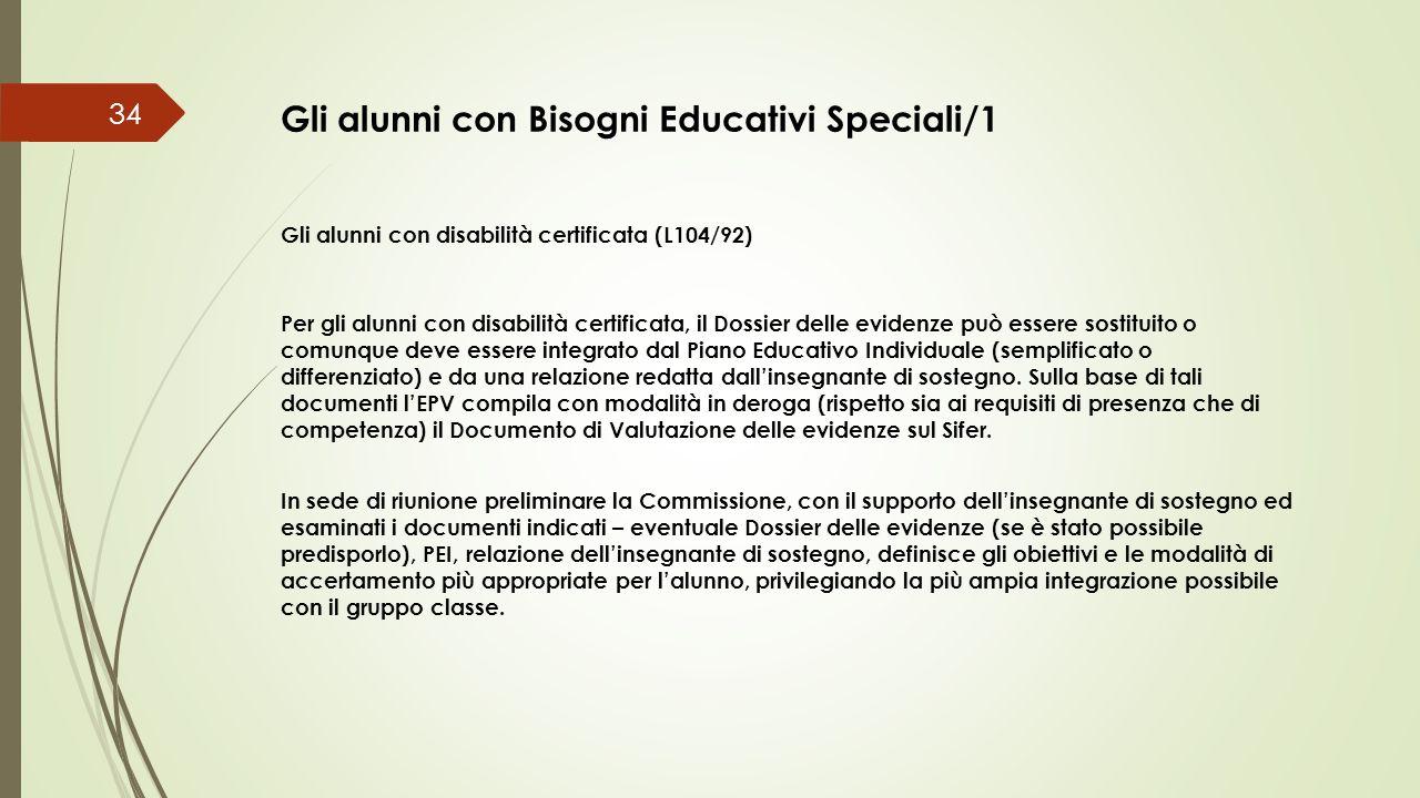 Gli alunni con Bisogni Educativi Speciali/1