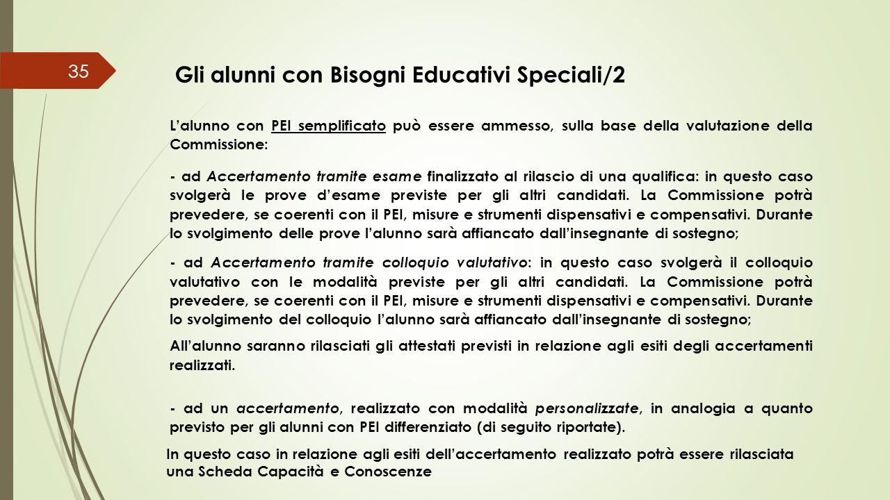 Gli alunni con Bisogni Educativi Speciali/2