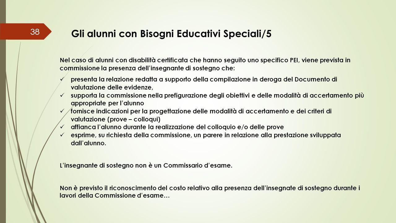 Gli alunni con Bisogni Educativi Speciali/5