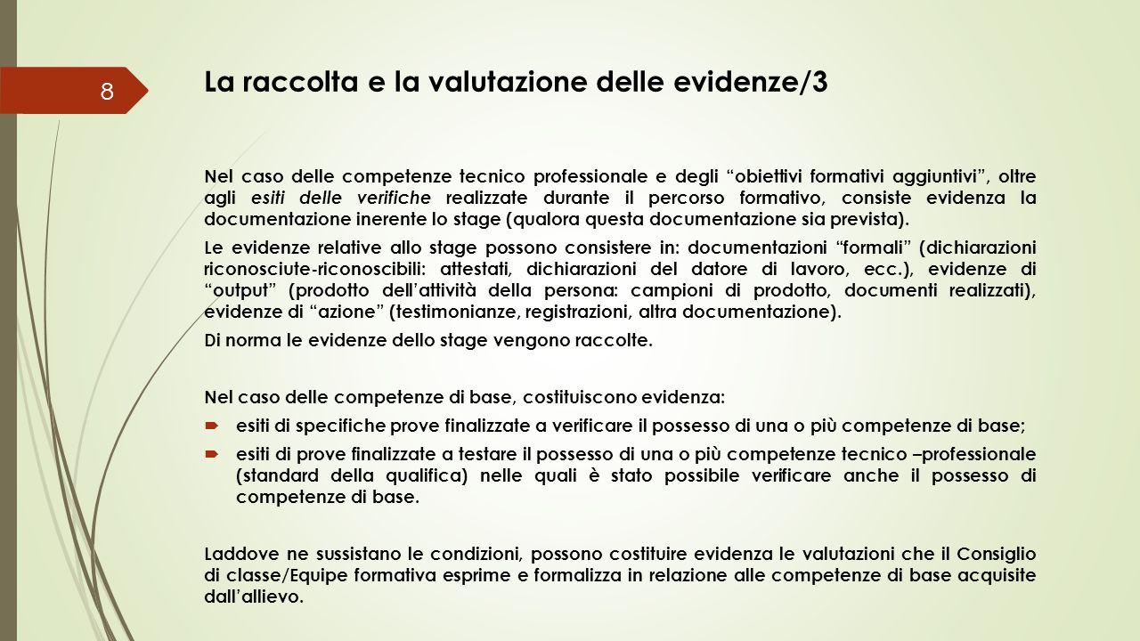 La raccolta e la valutazione delle evidenze/3