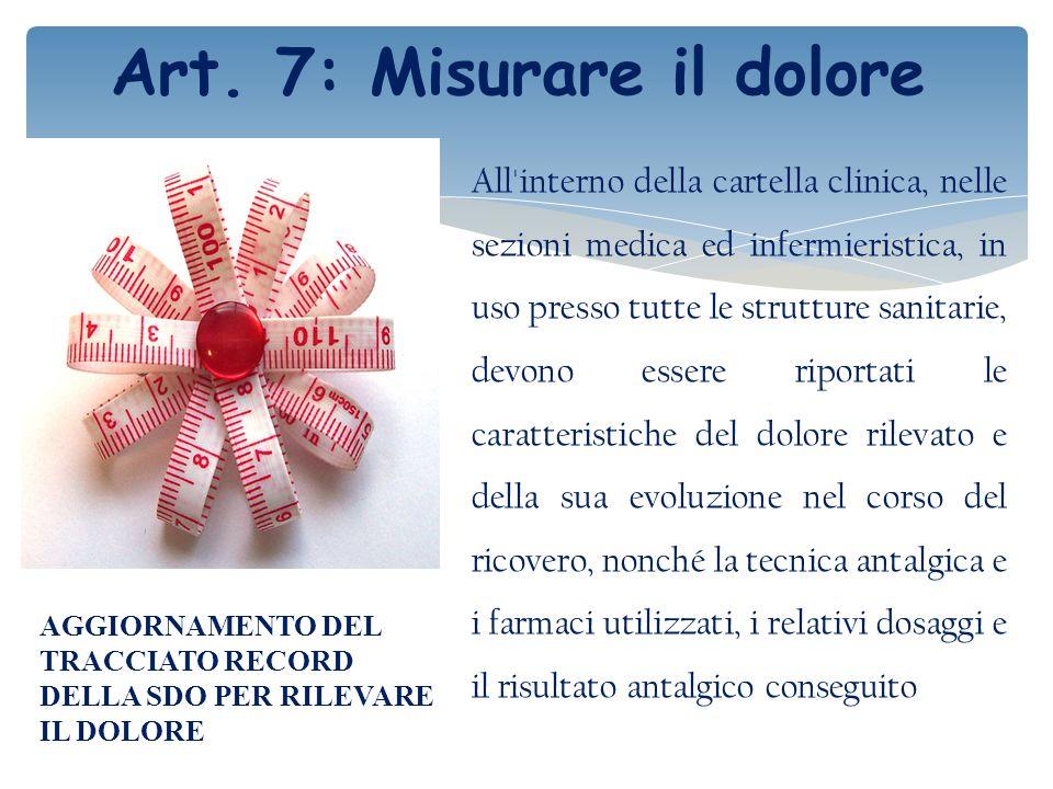Art. 7: Misurare il dolore