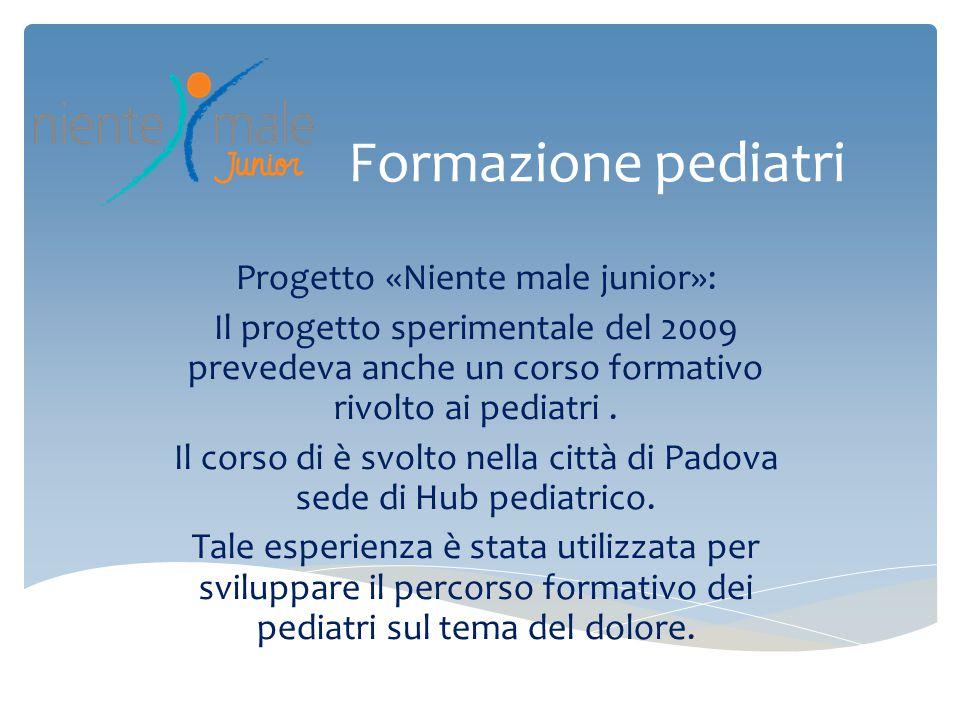 Formazione pediatri Progetto «Niente male junior»: