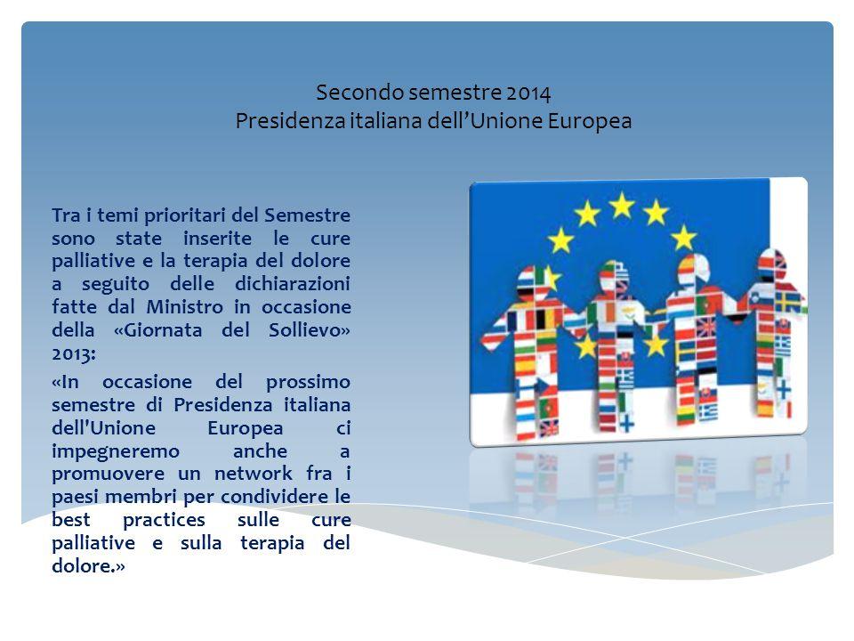 Secondo semestre 2014 Presidenza italiana dell'Unione Europea