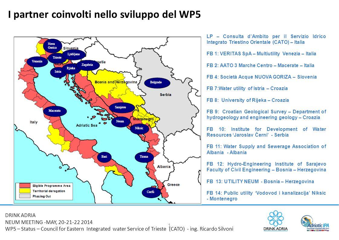 I partner coinvolti nello sviluppo del WP5