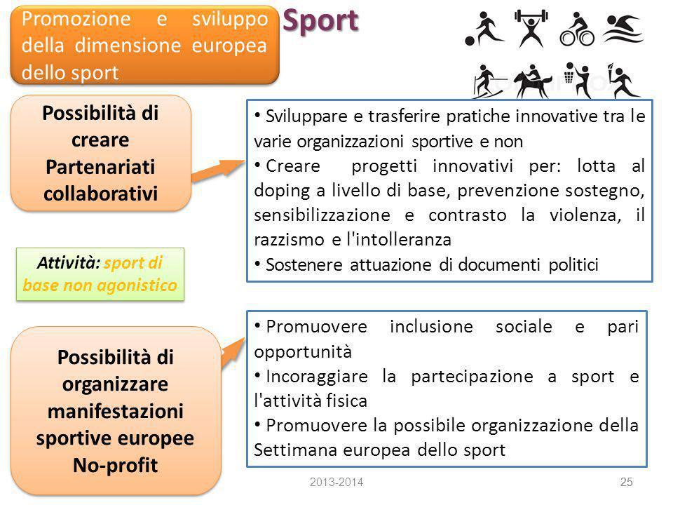 Sport Promozione e sviluppo della dimensione europea dello sport
