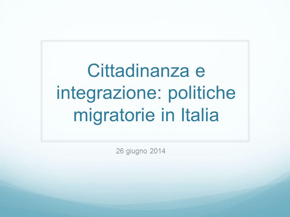 Cittadinanza e integrazione: politiche migratorie in Italia