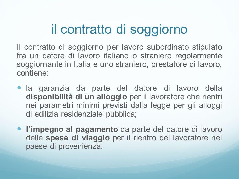 Best Contratto Di Soggiorno Per Lavoro Pictures - Home Design ...
