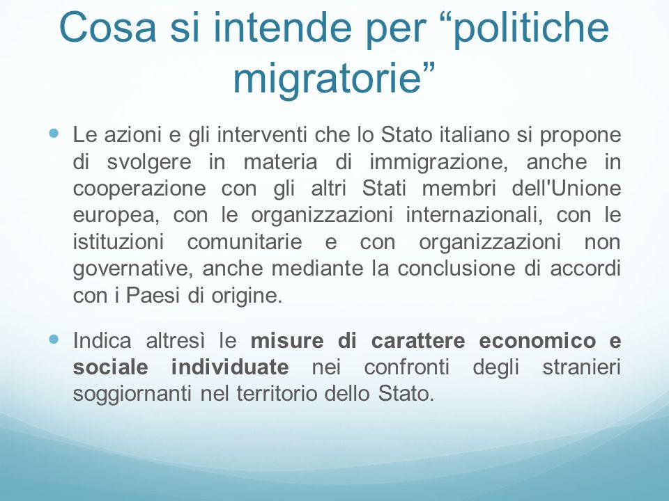 Cosa si intende per politiche migratorie