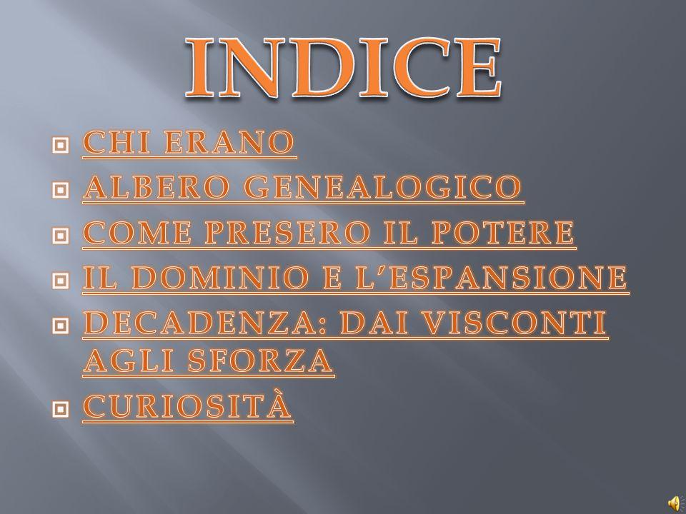 INDICE CHI ERANO ALBERO GENEALOGICO COME PRESERO IL POTERE