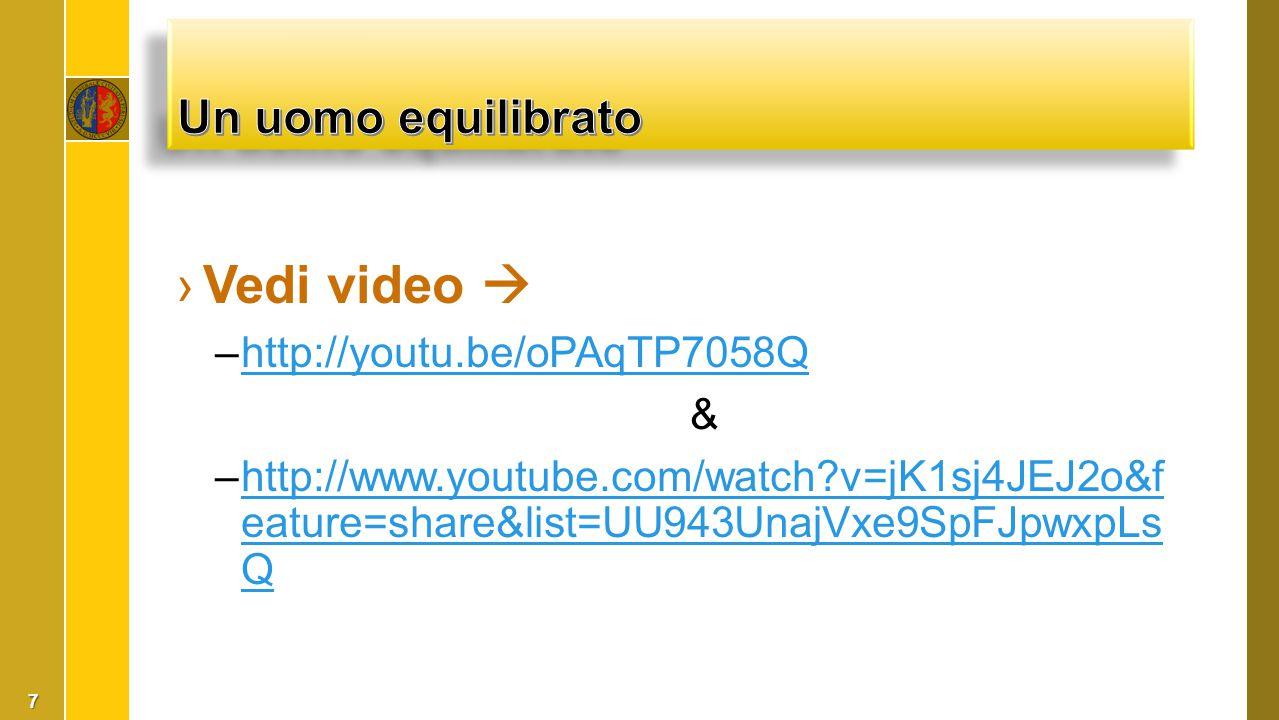 Vedi video  Un uomo equilibrato http://youtu.be/oPAqTP7058Q &