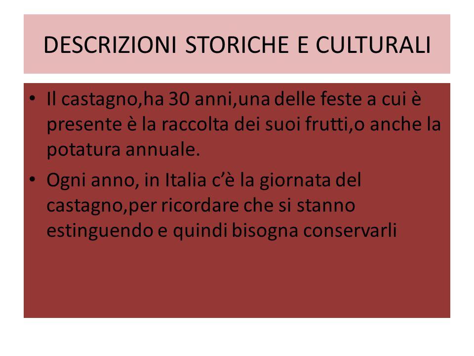 DESCRIZIONI STORICHE E CULTURALI