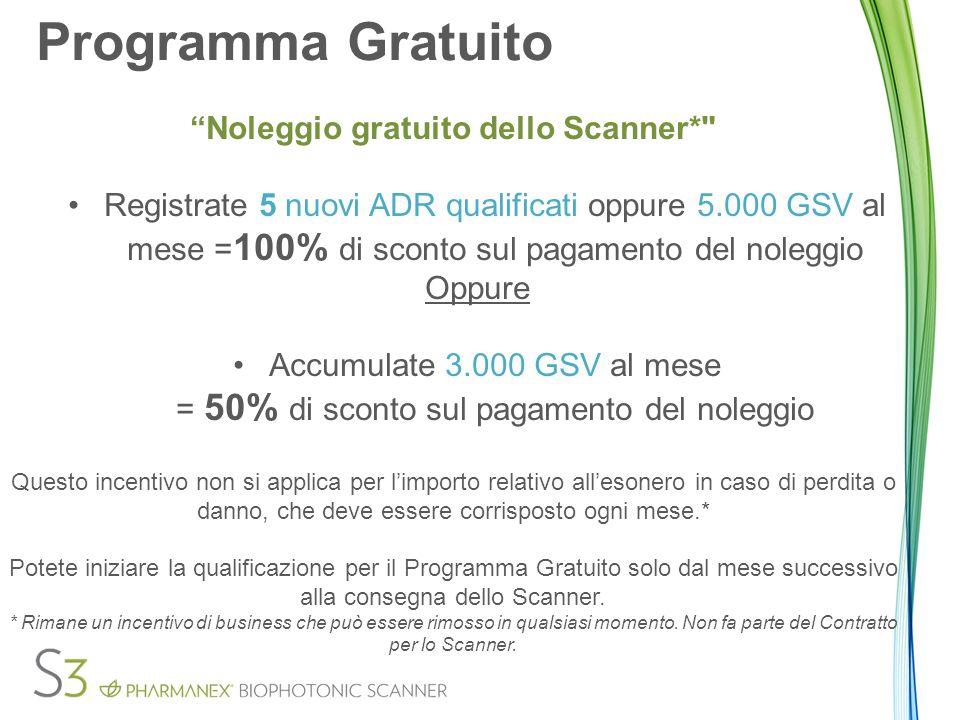 Noleggio gratuito dello Scanner*