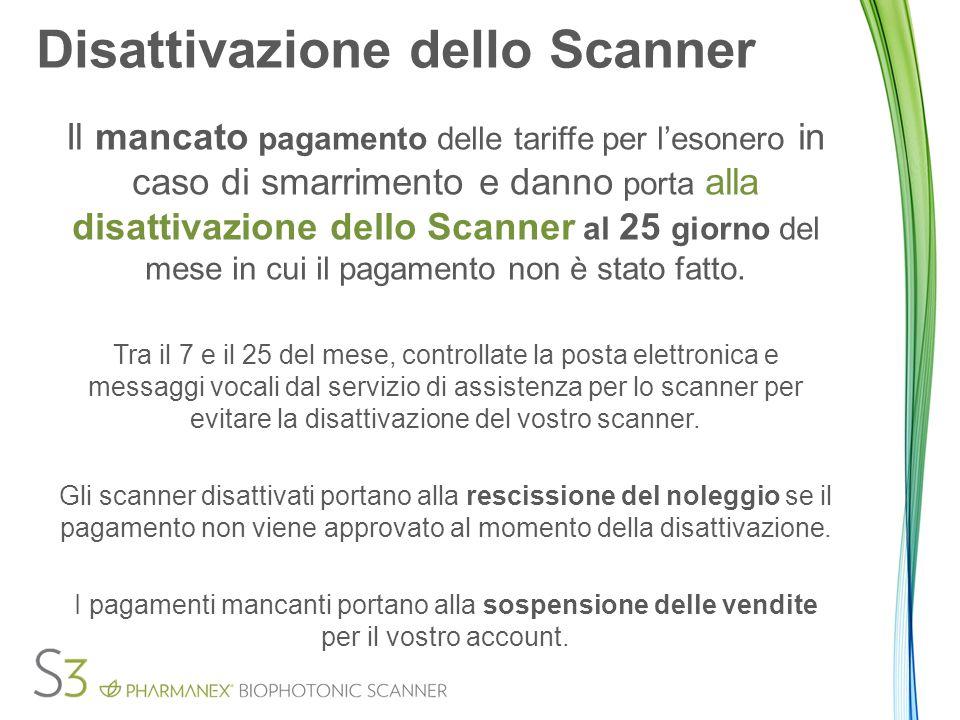 Disattivazione dello Scanner