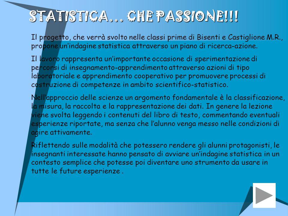 STATISTICA… CHE PASSIONE!!!