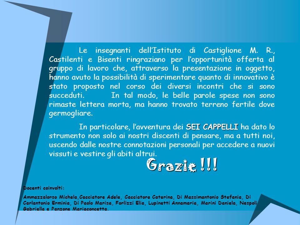 Le insegnanti dell'Istituto di Castiglione M. R
