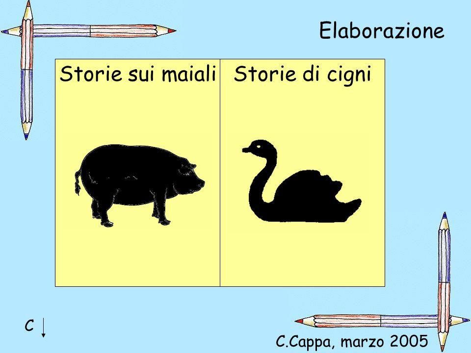 Elaborazione Storie sui maiali Storie di cigni C C.Cappa, marzo 2005