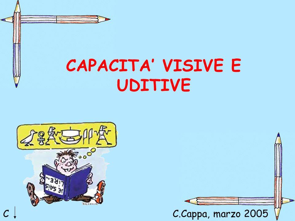CAPACITA' VISIVE E UDITIVE