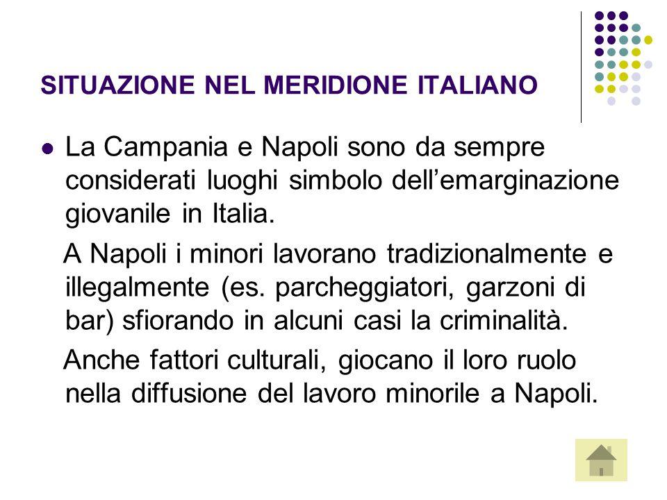 SITUAZIONE NEL MERIDIONE ITALIANO