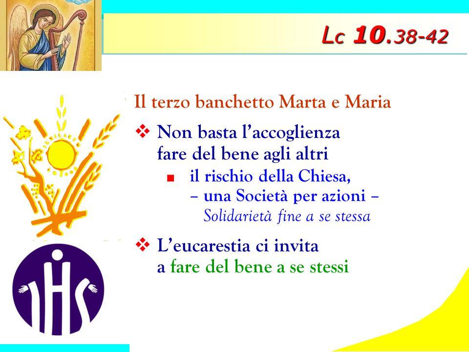 Lc 10.38-42 Il terzo banchetto Marta e Maria