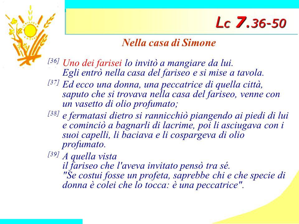 Lc 7.36-50 Nella casa di Simone