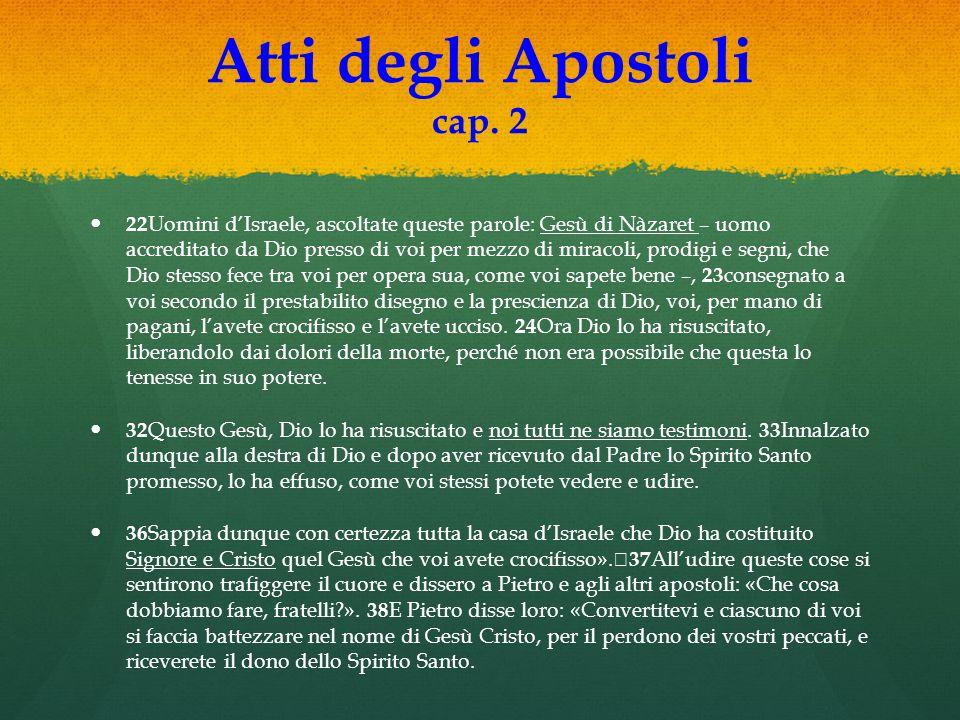 Atti degli Apostoli cap. 2