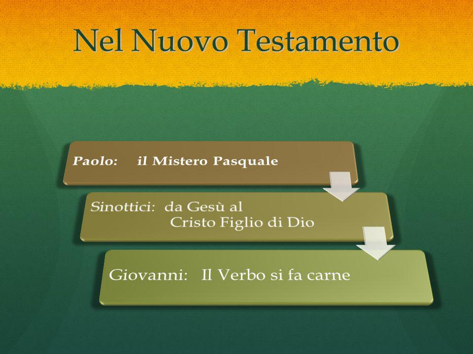 Nel Nuovo Testamento Paolo: il Mistero Pasquale