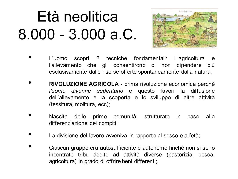 Età neolitica 8.000 - 3.000 a.C.