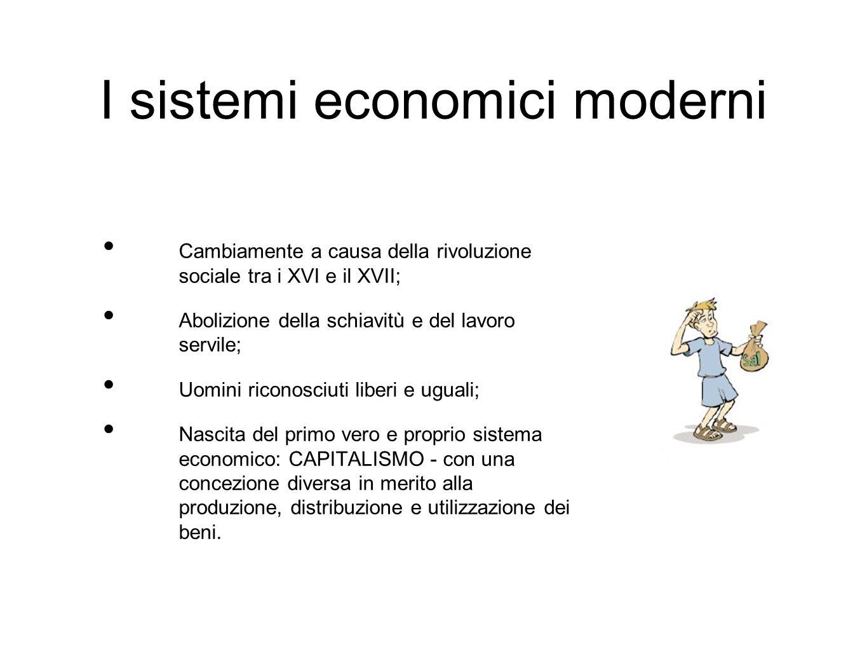 I sistemi economici moderni