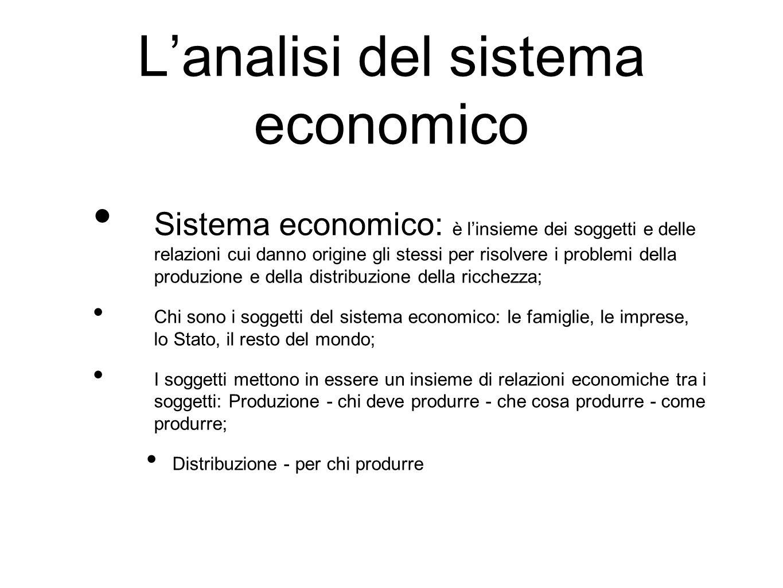 L'analisi del sistema economico