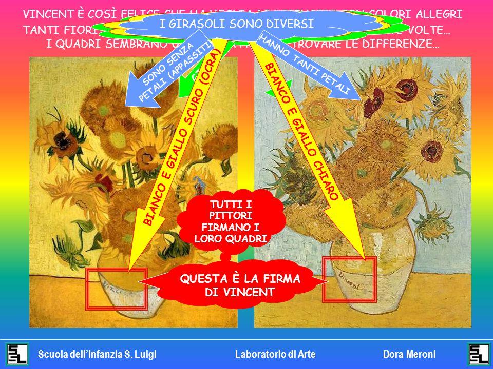 BIANCO E GIALLO SCURO (OCRA) TUTTI I PITTORI FIRMANO I LORO QUADRI
