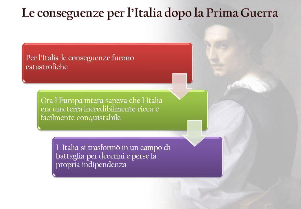 Le conseguenze per l'Italia dopo la Prima Guerra