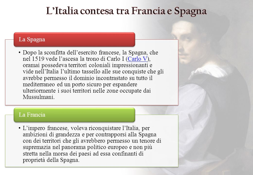 L'Italia contesa tra Francia e Spagna