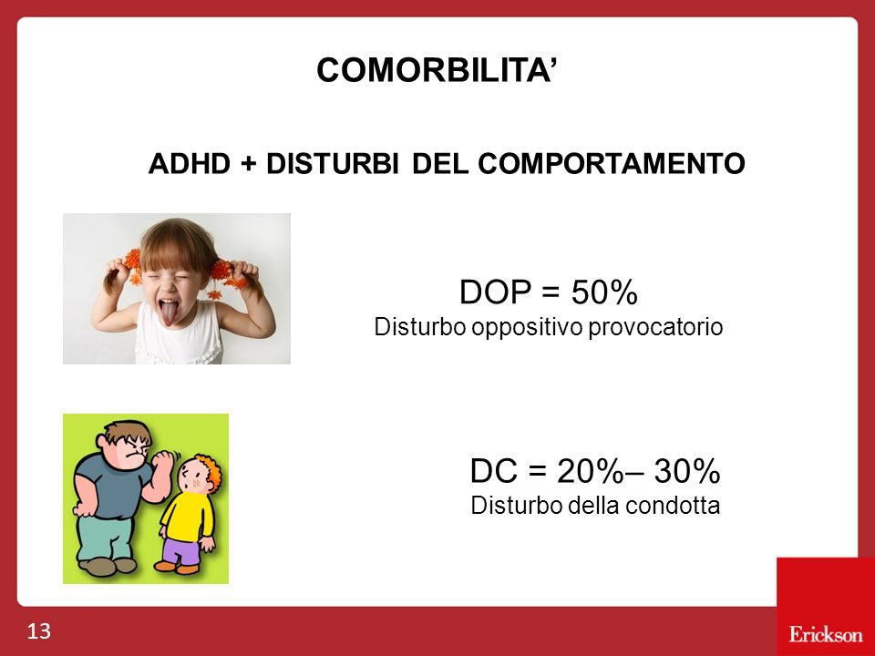 ADHD + DISTURBI DEL COMPORTAMENTO