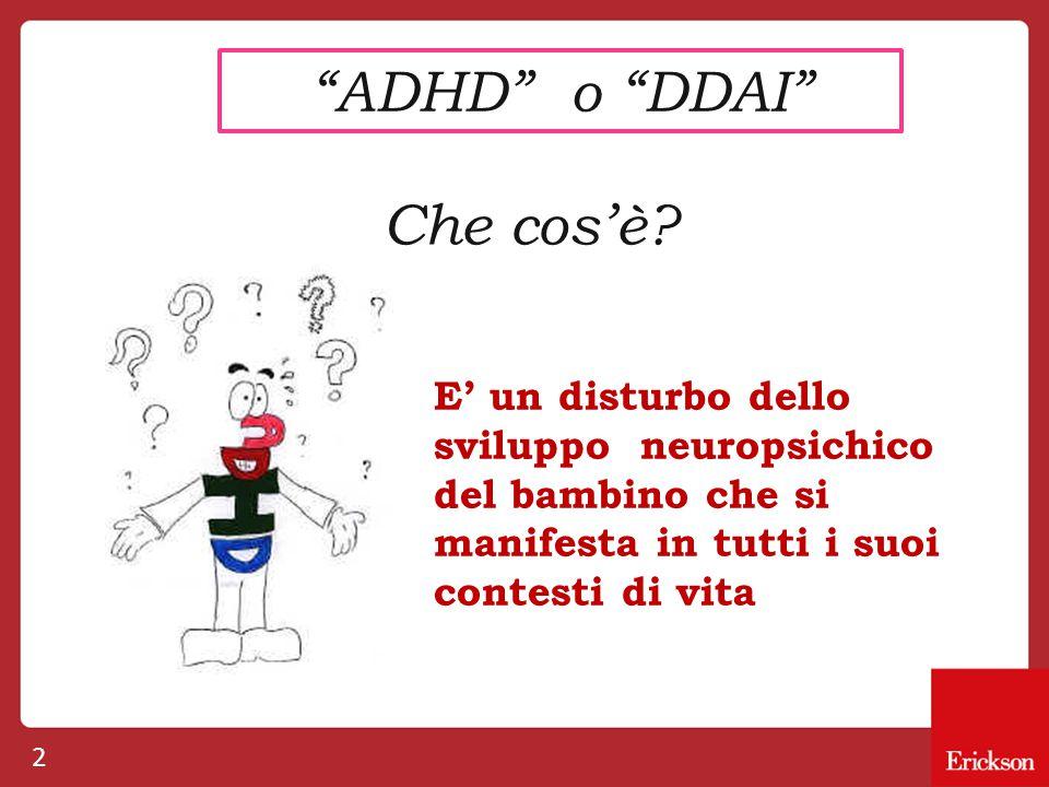 ADHD o DDAI Che cos'è