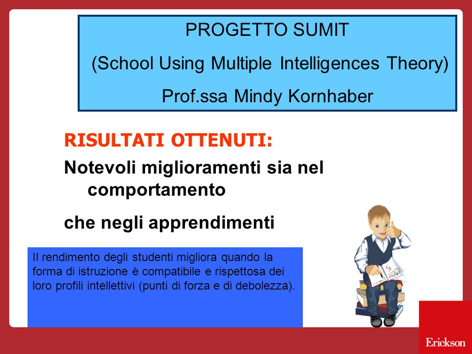 (School Using Multiple Intelligences Theory) Prof.ssa Mindy Kornhaber