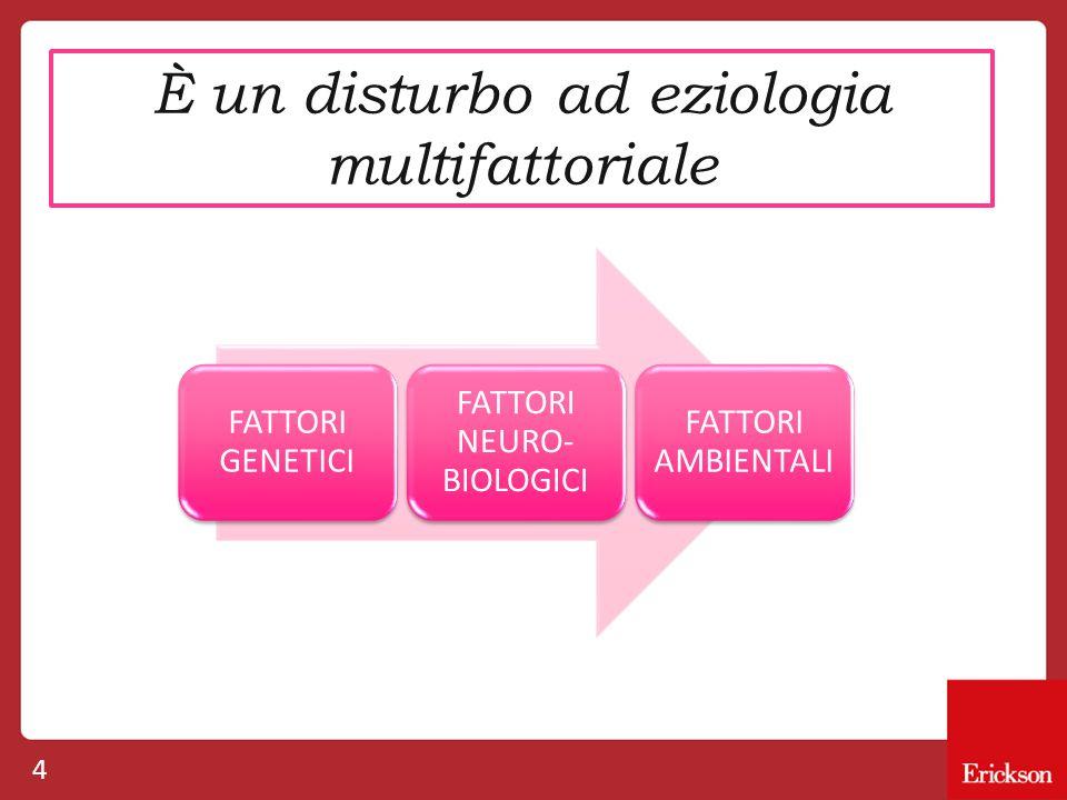 È un disturbo ad eziologia multifattoriale