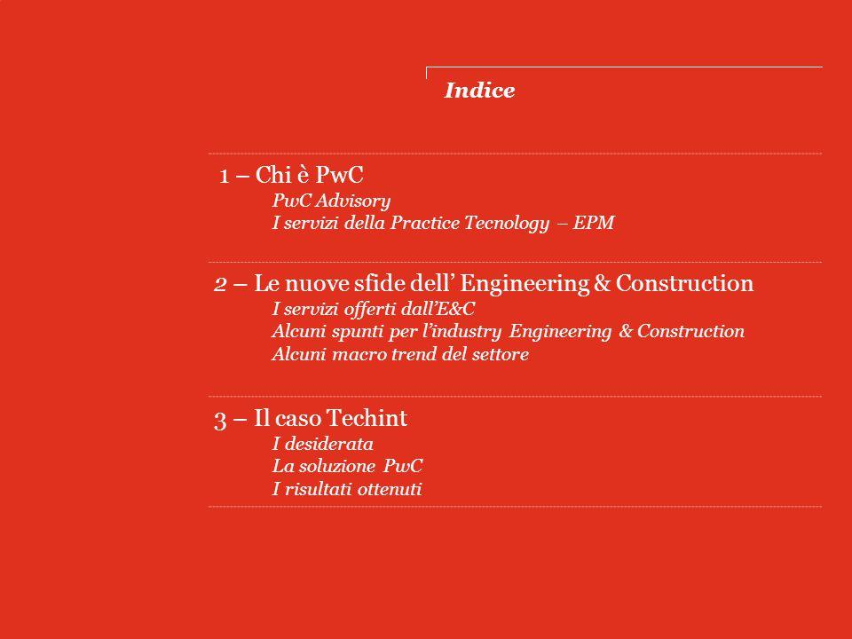 Chi è PwC PwC Advisory I servizi della Practice Tecnology - EPM 1