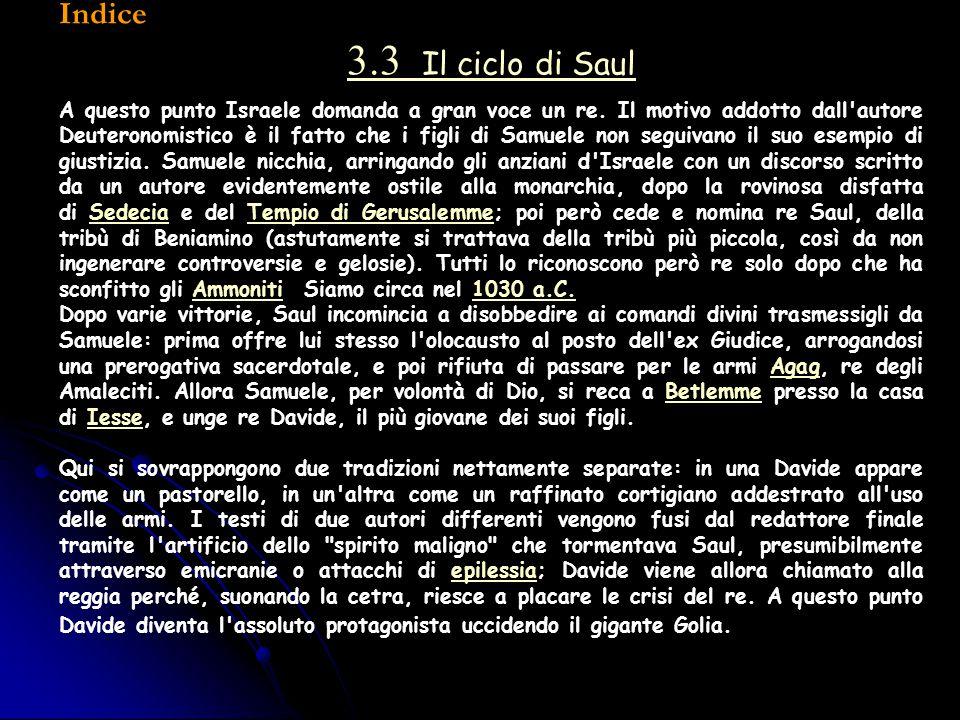 Indice 3.3 Il ciclo di Saul.