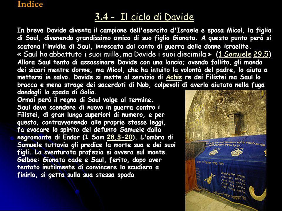 3.4 - Il ciclo di Davide Indice
