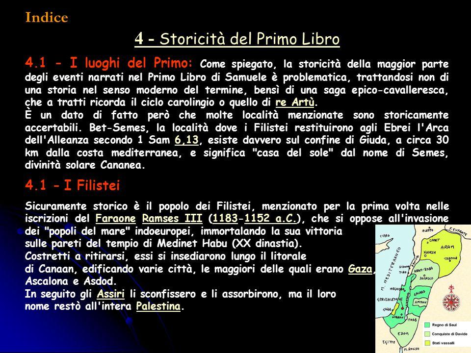 4 - Storicità del Primo Libro