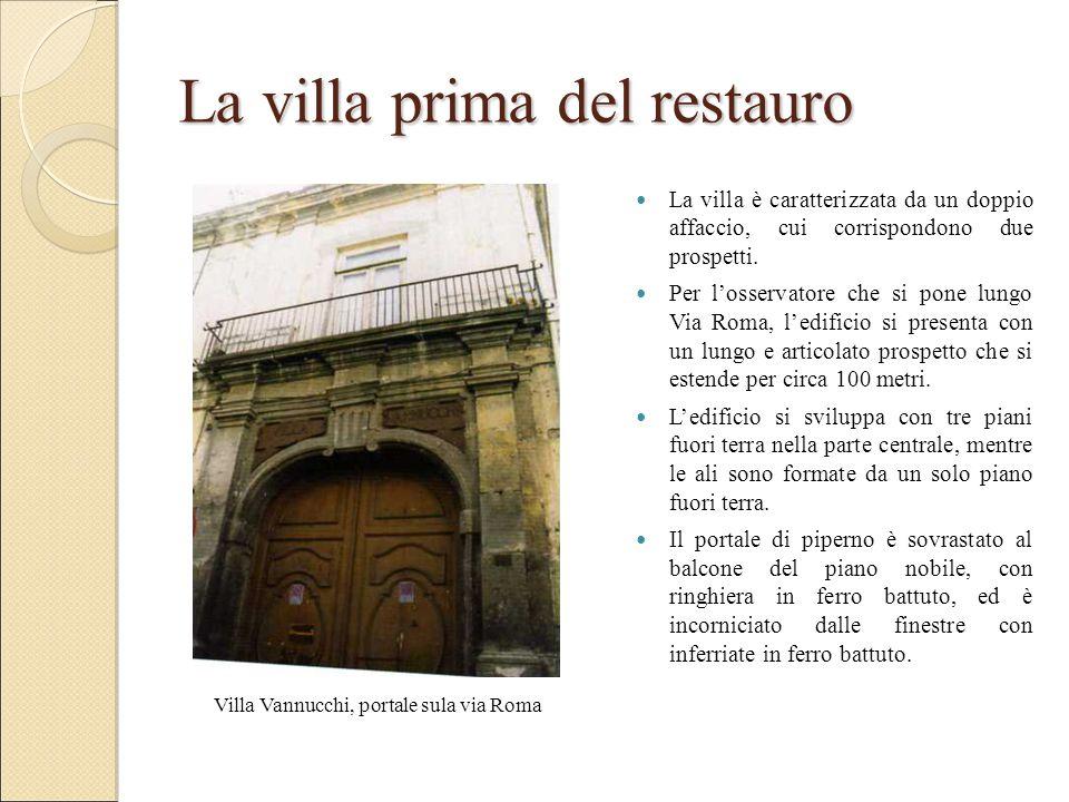 La villa prima del restauro