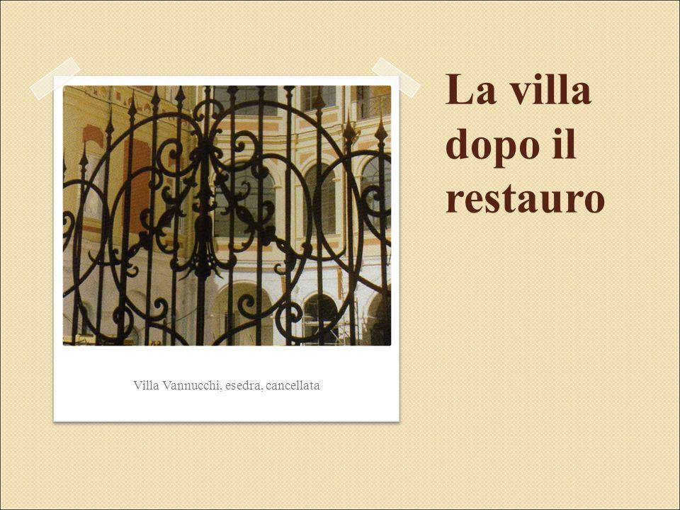 Villa Vannucchi, esedra, cancellata