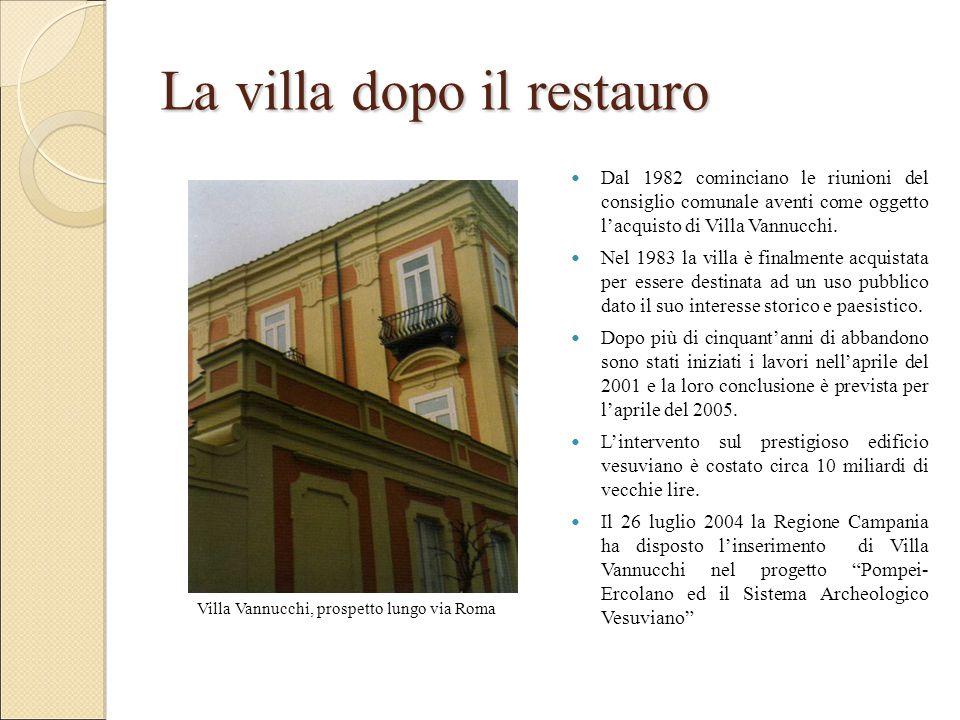 Villa Vannucchi, prospetto lungo via Roma