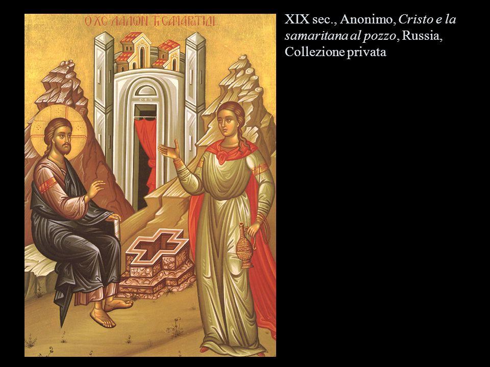 XIX sec., Anonimo, Cristo e la samaritana al pozzo, Russia, Collezione privata
