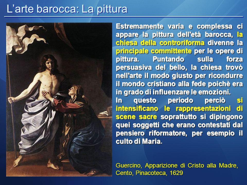 L'arte barocca: La pittura